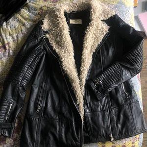 ASOS Urbancode Genuine Leather & Shearling Jacket
